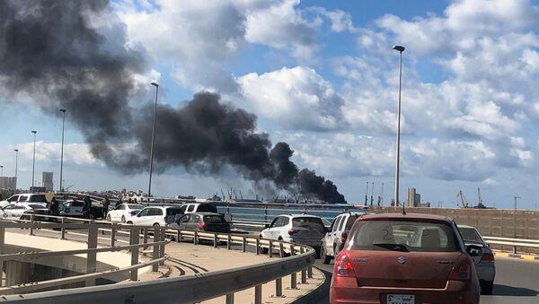 Libya'da Trablus limanına saldırı - Sputnik Türkiye