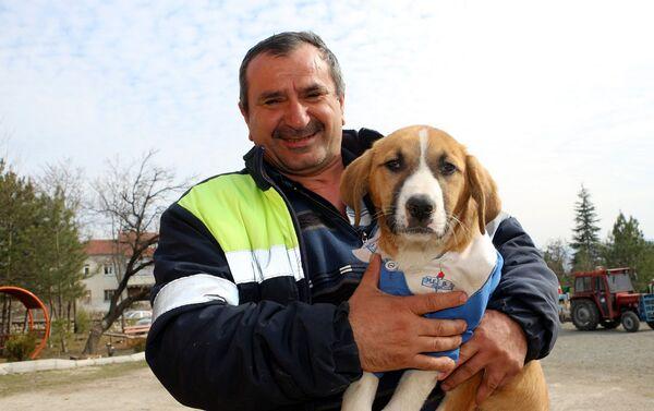 Tokat Turhal'da, bir köy okulunda öğretmen ve öğrenciler tarafından beslenen 'Fındık' isimli köpeğin öğrenci önlüğü giydirilerek çekilen fotoğrafları, dün sosyal medyada beğeni ve paylaşım rekoru kırmıştı. Okulun maskotu haline gelen köpek bugün hastalandı.  - Sputnik Türkiye