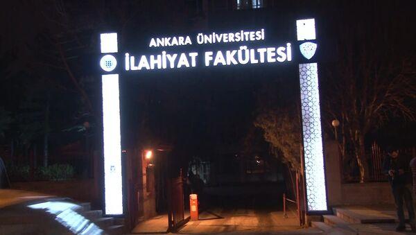 Ankara Üniversitesi İlahiyat Fakültesi, yangın - Sputnik Türkiye