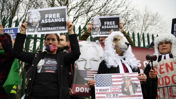 Julian Assange-ABD'ye iade davası - Sputnik Türkiye