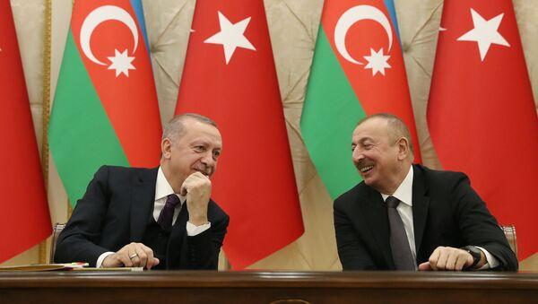 Recep Tayyip Erdoğan - Azerbaycan Cumhurbaşkanı İlhamAliyev - Sputnik Türkiye