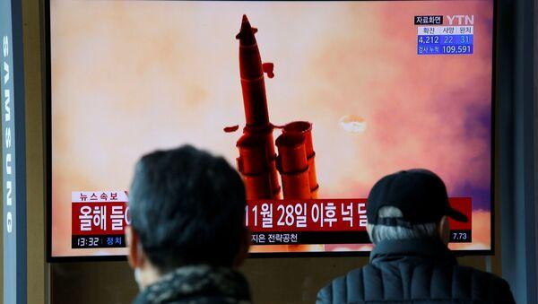 KuzeyKore'nin Doğu Denizi'nde (Japon Denizi) yeni füze denemesi yaptığı belirtildi. - Sputnik Türkiye