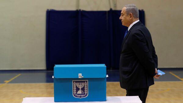 Netanyahu-İsrail-seçimler - Sputnik Türkiye