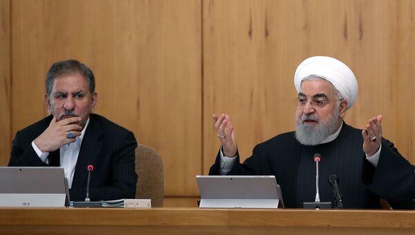 İran Cumhurbaşkanı Birinci Yardımcısı İshak Cihangiri ve İran Cumhurbaşkanı Hasan Ruhani - Sputnik Türkiye