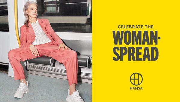 İsveç'in Malmö kentinde Hansa'nın 'Kadınların yayılmasını kutlamak' kampanyasından bir görüntü - Sputnik Türkiye