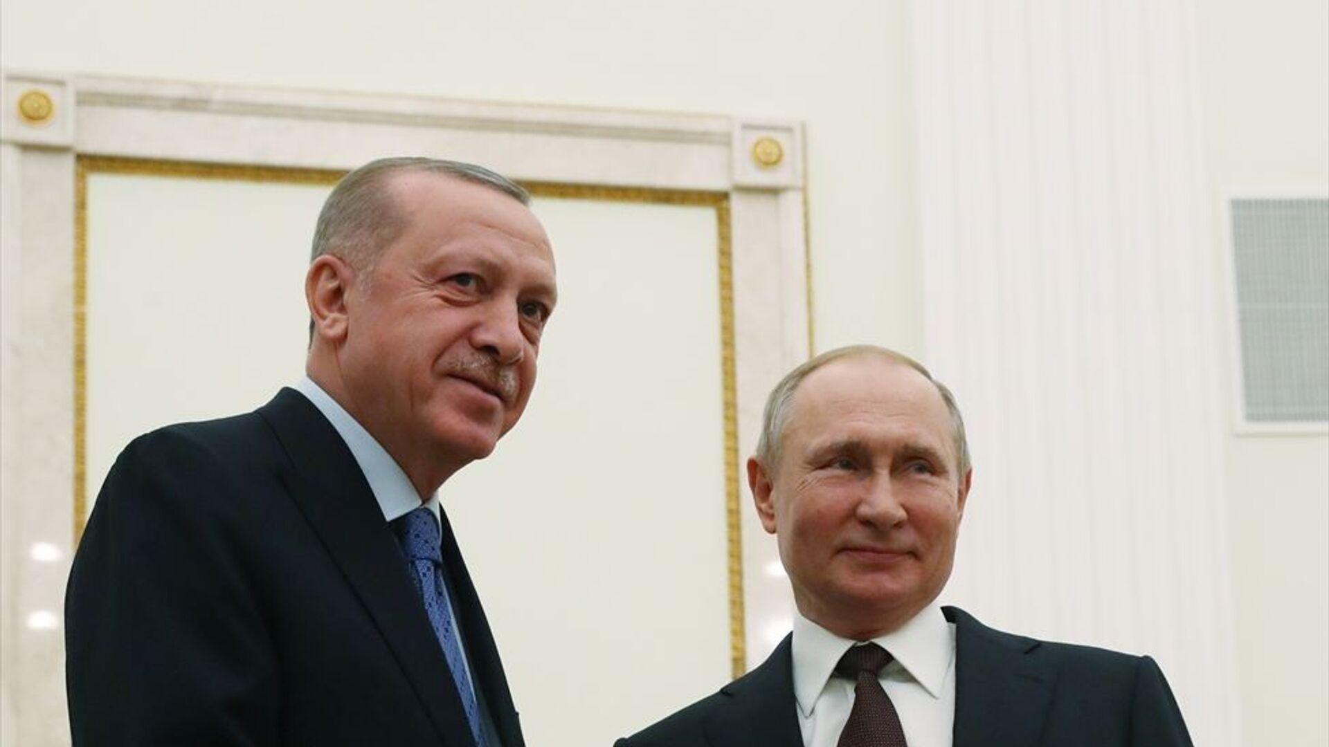 Recep Tayyip Erdoğan- Vladimir Putin - Sputnik Türkiye, 1920, 28.09.2021