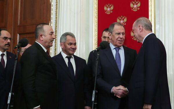 Moskova'daki zirve, Recep Tayyip Erdoğan-Sergey Lavrov - Sputnik Türkiye