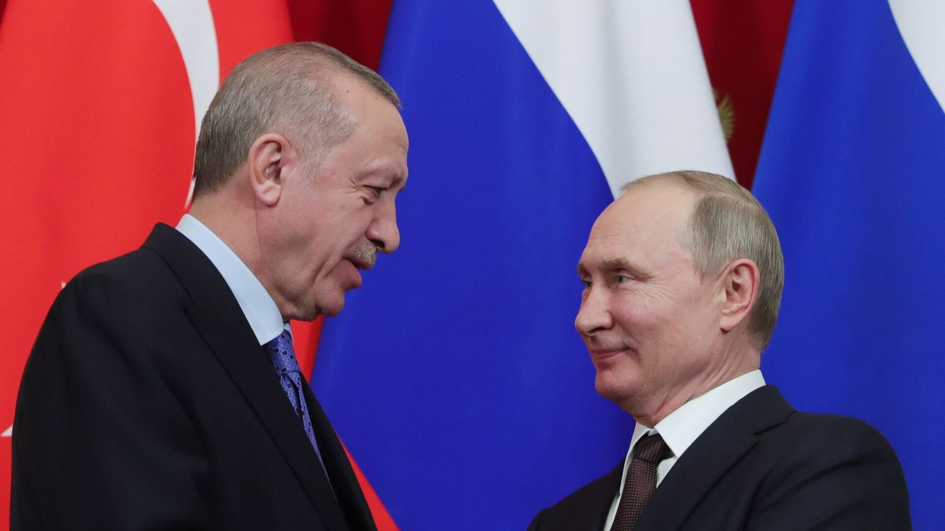 Moskova'daki zirve, Recep Tayyip Erdoğan-Vladimir Putin - Sputnik Türkiye, 1920, 20.09.2021