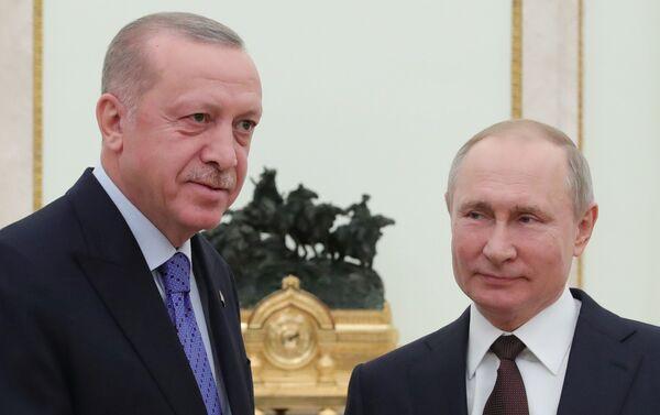Recep Tayyip Erdoğan-Vladimir Putin - Sputnik Türkiye