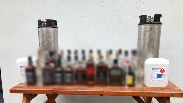 Tekirdağ'da 595 litre kaçak içki ele geçirildi - Sputnik Türkiye