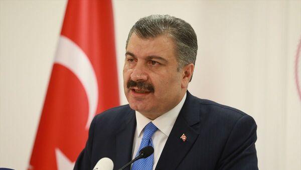 Sağlık Bakanı Fahrettin Koca, düzenlediği basın toplantısında Türkiye'deki ilk koronavirüs vakasını açıkladı. - Sputnik Türkiye