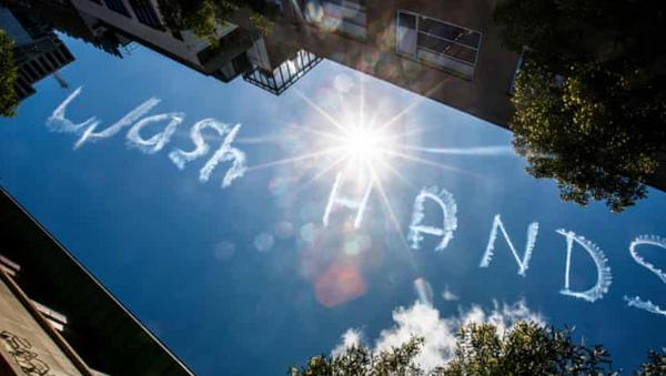 Gökyüzünde 'Ellerini yıka' yazısı - Sputnik Türkiye