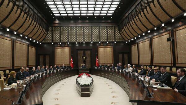 Cumhurbaşkanlığı Külliyesi'nde koronavirüs toplantısı  - Sputnik Türkiye
