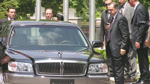 Erdoğan - limuzin - Sputnik Türkiye