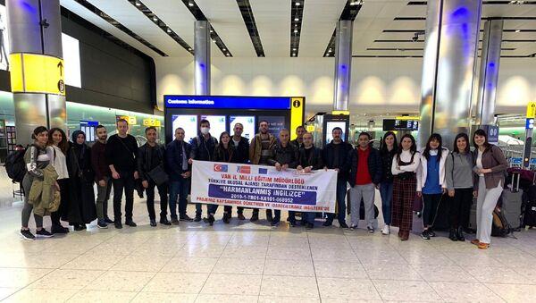 Van'dan bir AB projesi kapsamında Londra'ya giden 21 kişilik Türk öğretmen ve idareci heyeti, - Sputnik Türkiye