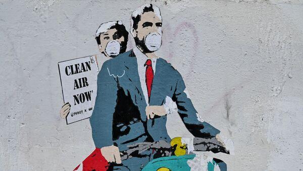 Dünyanın farklı ülkelerinde koronavirüsle mücadele konulu duvar resimleri - Sputnik Türkiye