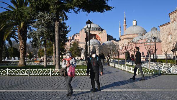 Koronavirüs - Türkiye - İstanbul - maske - Sputnik Türkiye