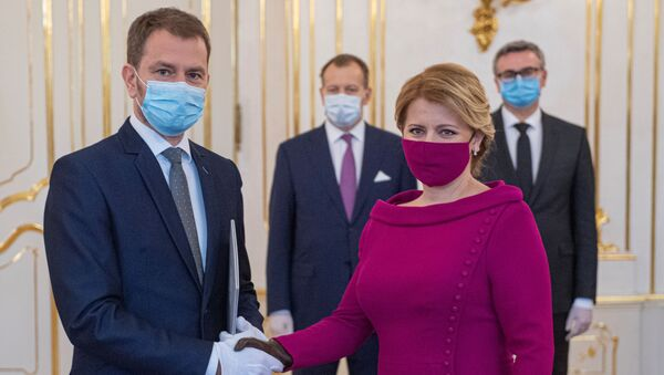 SlovakyaCumhurbaşkanı Zuzana Caputova, başbakanlık görevini Igor Matovič'e verdi. - Sputnik Türkiye