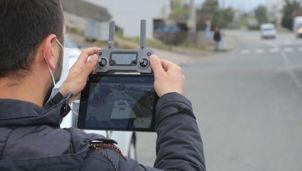 sokağa çıkması kısıtlanan vatandaşlar dron ile denetlendi - Sputnik Türkiye