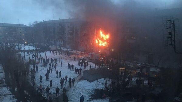 Rusya'nın Çelyabinsk bölgesindeki Magnitogorsk şehrinde bir binada meydana gelen doğalgazpatlamasında ilk belirlemelere göre2kişi öldü - Sputnik Türkiye