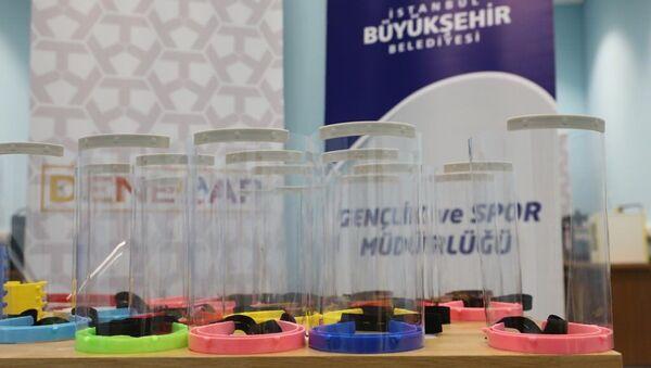 İBB, koruyucu siperli maske - Sputnik Türkiye