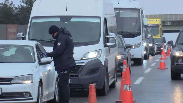 Denetimler yüzünden oluşan trafik - Sputnik Türkiye