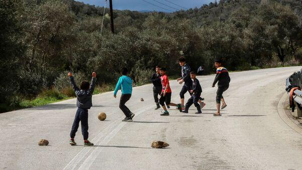 Yunanistan-mülteci kampları - Sputnik Türkiye