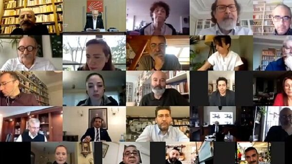 Kemal Kılıçdaroğlu, sanatçılar ile video konferans görüşmesi gerçekleştirdi - Sputnik Türkiye