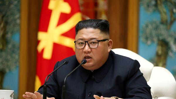 Kuzey Kore Lideri Kim Jong-un, İşçi Partisi toplantısında  - Sputnik Türkiye