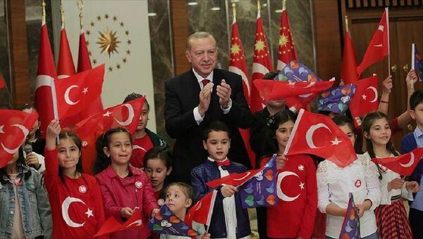 Cumhurbaşkanı Recep Tayyip Erdoğan-23 Nisan - Sputnik Türkiye
