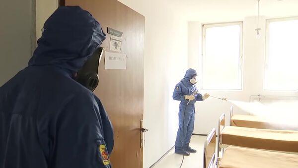 Rusya, Sırbistan, dezenfektasyon, koronavirüs - Sputnik Türkiye