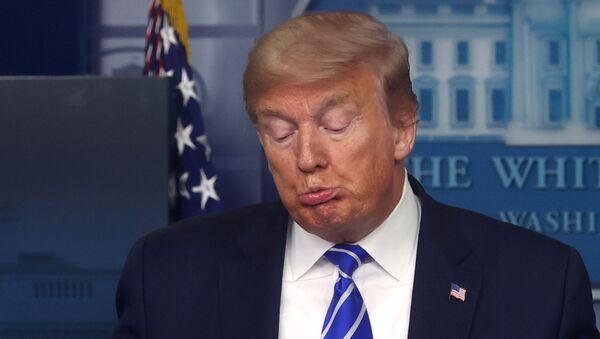 Başkan Donald Trump, koornavirüs görev gücü basın toplantısında, Beyaz Saray, Washington, ABD, 23 Nisan 2020 - Sputnik Türkiye