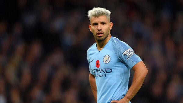 İngiltere Premier Lig ekiplerinden Manchester City'de forma giyen Sergio Agüero - Sputnik Türkiye