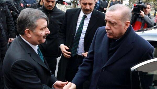 Fahrettin Koca - Recep Tayyip Erdoğan - Sputnik Türkiye