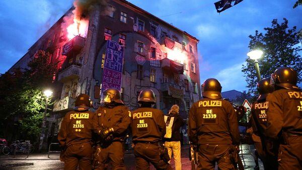 Almanya, koronavirüs, protesto - Sputnik Türkiye