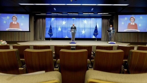 Avrupa Birliği video konferans - Sputnik Türkiye