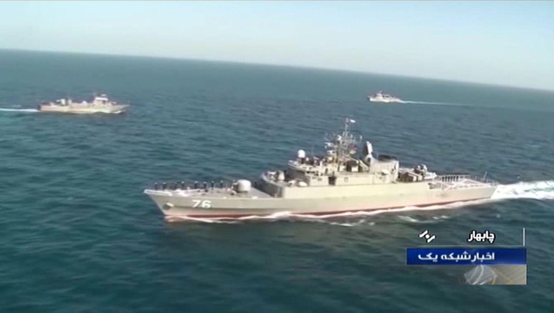 Basra Körfezi'nde bir tatbikat sırasında İran ordusuna ait bir savaş gemisi yanlışlıkla başka bir gemiyi vurdu. - Sputnik Türkiye, 1920, 06.04.2021