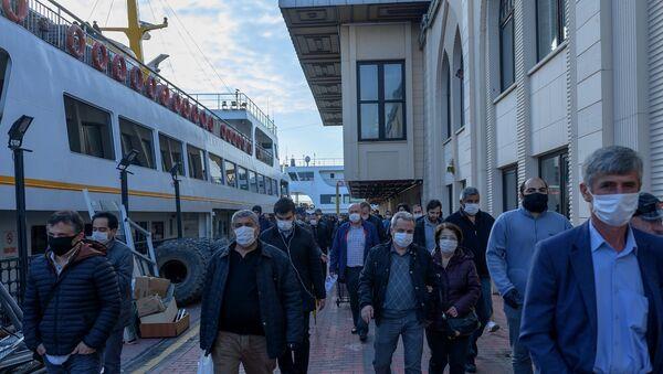 Koronavirüs - maske - vapur - Kadıköy - İstanbul - Sputnik Türkiye