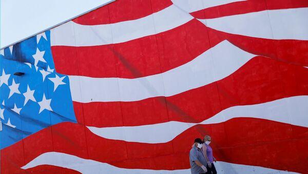 ABD bayrağı - maske - Sputnik Türkiye