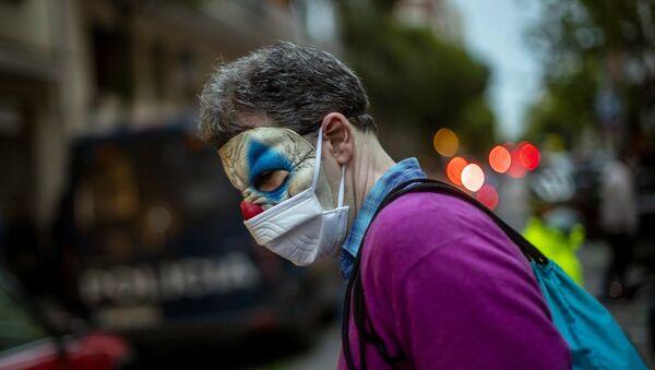İspanya, koronavirüs, protesto - Sputnik Türkiye