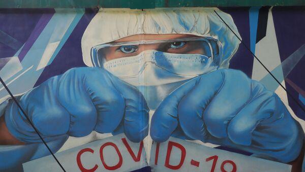 Koronavirüs graffiti - Moskova - Rusya - Sputnik Türkiye
