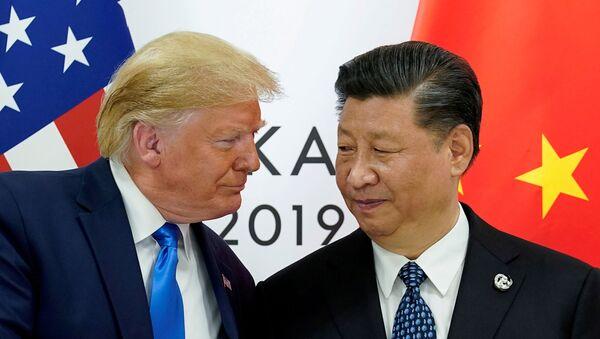 ABD Başkanı Donald Trump-Çin Devlet Başkanı Şi Cinping - Sputnik Türkiye