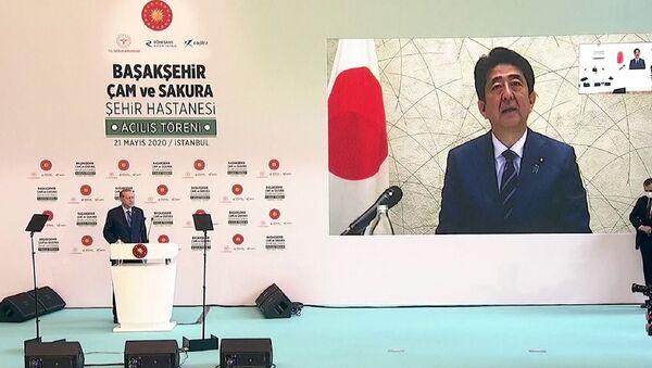Japonya Başbakan Şinzo Abe - Recep Tayyip Erdoğan - Sputnik Türkiye
