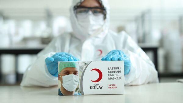 Kızılay, maske üretimi - Sputnik Türkiye