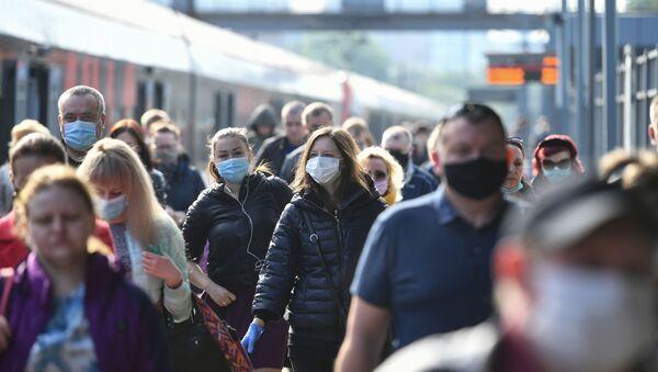Koronavirüs - Moskova - Rusya - maske - Sputnik Türkiye