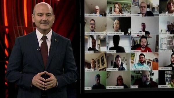 Süleyman Soylu, Uluslararası Göç Filmleri Festivali video konferans - Sputnik Türkiye