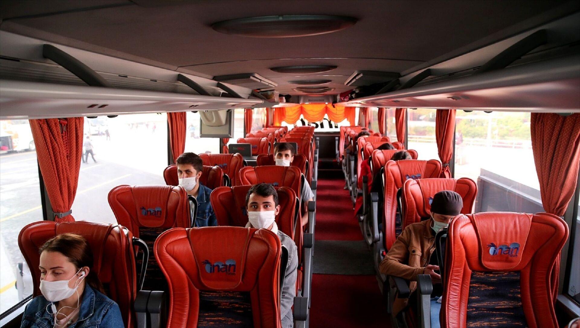 Ankara Şehirler Arası Otobüs Terminali (AŞTİ) - koronavirüs - maske - bilet - otobüs bileti - Sputnik Türkiye, 1920, 28.06.2021