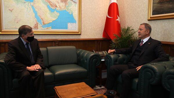 Milli Savunma Bakanı Hulusi Akar, ABD'nin Ankara Büyükelçisi David Satterfield - Sputnik Türkiye