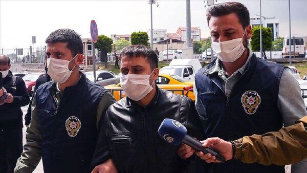 Hrant Dink Vakfı'na tehdit içerikli mesaj gönderdiği gerekçesiyle gözaltına alınan E.B. - Sputnik Türkiye