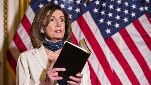 ABD Temsilciler Meclisi Başkanı Demokrat Nancy Pelosi - Sputnik Türkiye
